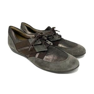 Sesto Meucci mixed leather brown sneakers